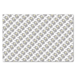 Baby elephant light gray and yellow tissue paper