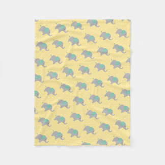Baby Elephant Parade Fleece Blanket