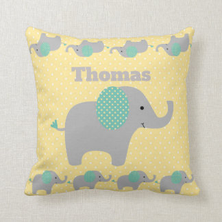 Baby Elephant Parade Personnalised Throw Pillow