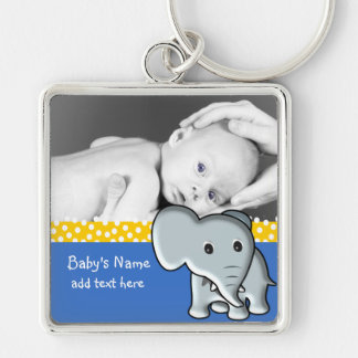 Baby Elephant/Photo Keychain