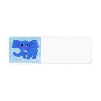 Baby Elephant Return Address Label