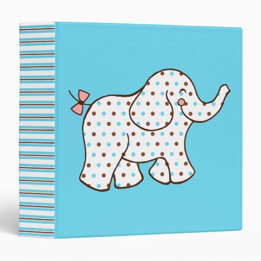 Baby Elephant Scrapbook Binder