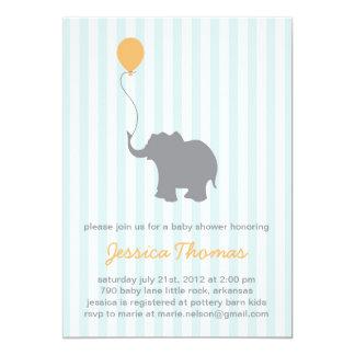 Baby Elephant Shower Invitation