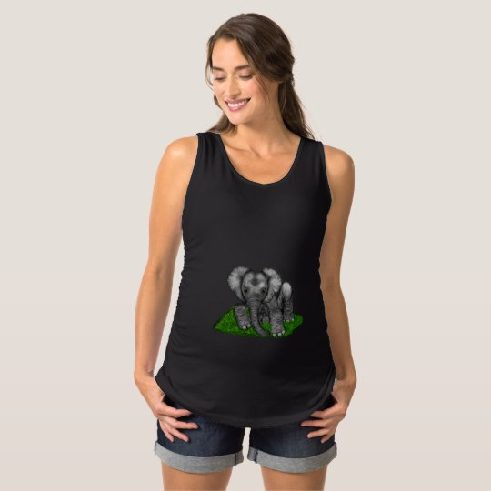Baby Elephant Sleeveless Maternity Shirt