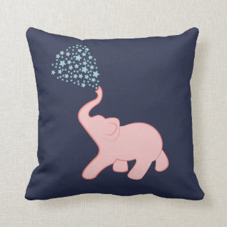 Baby Elephant Star Shower Throw Pillow