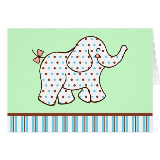 Baby Elephant Thank You Card