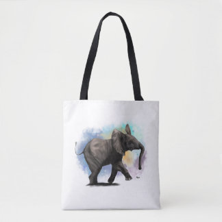 Baby Elephant Walking Tote Bag