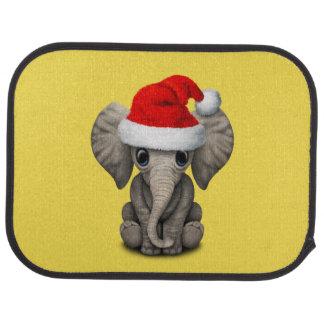 Baby Elephant Wearing a Santa Hat Car Mat
