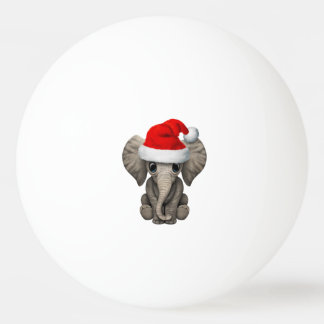 Baby Elephant Wearing a Santa Hat Ping Pong Ball