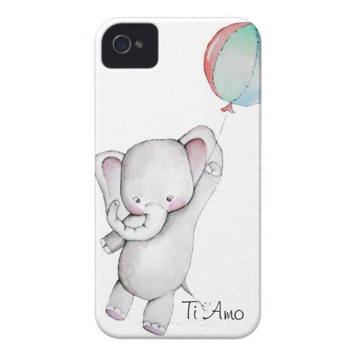 Baby Elephant with Balloon Blackberry Case