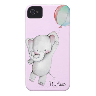 Baby Elephant with Balloon Pink Blackberry Case