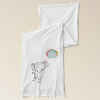 Baby Elephant with Balloon Scarf