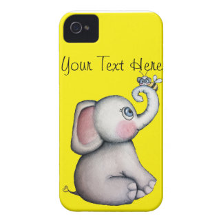 Baby Elephant with Bee Blackberry Case Yellow