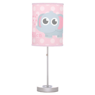 Baby Elephant With Love Girls Nursery Room Decor Table Lamp