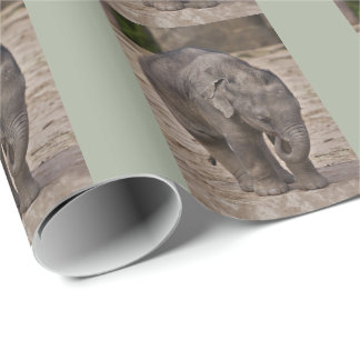 Baby Elephant Wrapping Paper