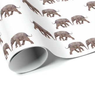 Baby Elephant Wrapping Paper (choose colour)