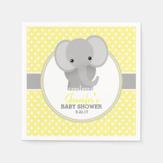 Baby Elephant (yellow) Baby Shower Disposable Napkins