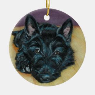 'Baby Em' - Scottie puppy Ceramic Ornament