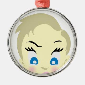 baby emoji - aggressive metal ornament