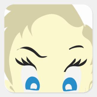 baby emoji - aggressive square sticker