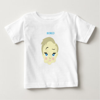 baby emoji - bored - light color baby T-Shirt