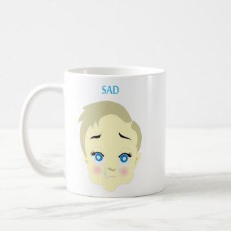 baby emoji - sad coffee mug