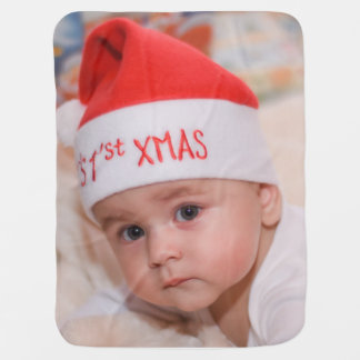 Baby Face Baby Blanket First Christmas Nursery