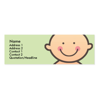Baby Face Green Skinny Profile Cards Business Cards
