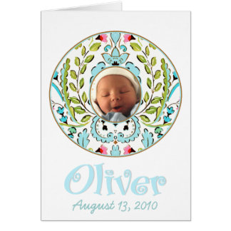 """Baby Face"" Oliver Card"