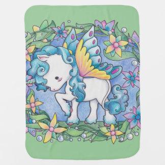 Baby Faerie Unicorn Blanket Receiving Blankets