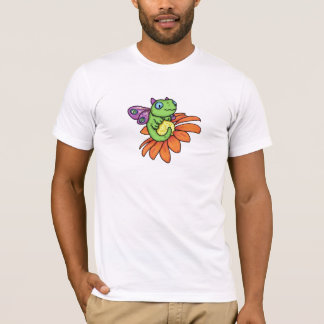 Baby fairy dragon and sunflower by Carrie Michael T-Shirt