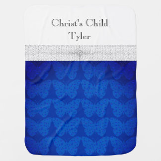 Baby-Faith-Christian-Butterfly-Blue-Two-Sided Baby Blanket