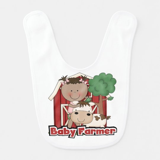 Baby Farmer With Cow Bibs