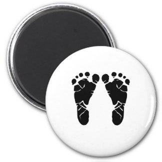 Baby Feet 2 Inch Round Magnet