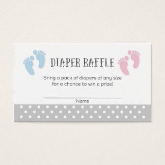 Baby Feet Baby Shower Diaper Raffle Tickets