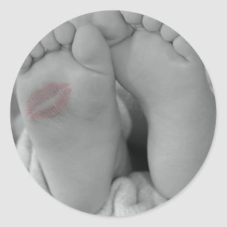 Baby Feet Classic Round Sticker