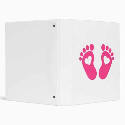 Baby feet hearts binders