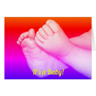 Baby Feet It's a Baby! Card