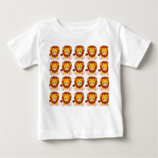 Baby Fine Jersey, baby lion T-Shirt, White Baby T-Shirt