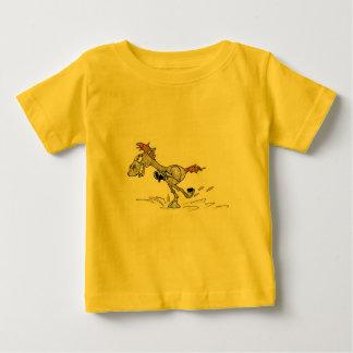 BABY FINE JERSEY T-SHIRT - CARTOON RACING HORSE