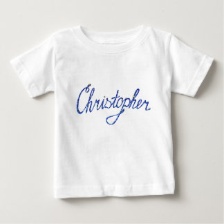Baby Fine Jersey T-Shirt Christopher name