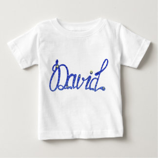 Baby Fine Jersey T-Shirt David name