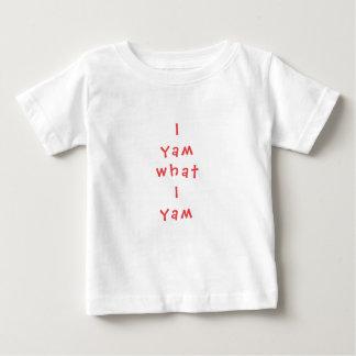 """Baby Fine Jersey T-Shirt """"I Yam What I Yam"""""""
