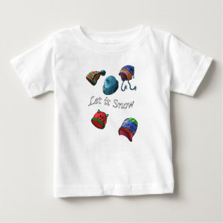 Baby fine Jersey T-shirt, Let it snow Baby T-Shirt