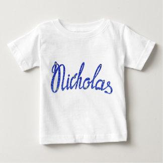 Baby Fine Jersey T-Shirt Nicholas name