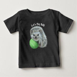 Baby Fine Jersey T-Shirt - Playful Hedgehog