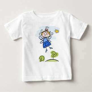 Baby Fine Jersey T-Shirt with cartoon angel