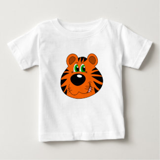 Baby Fine Jersey T-Shirt with cartoon tiger