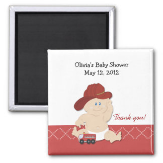 BABY FIRE FIGHTER Baby Shower Favor Magnet