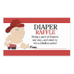 Baby Fireman Firefighter Baby Shower Diaper Raffle Business Card Templates
